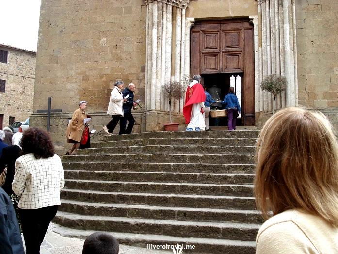Monticchiello, Tuscany, La Toscana, Italy, Italia, Palm Sunday, Church, Catholic