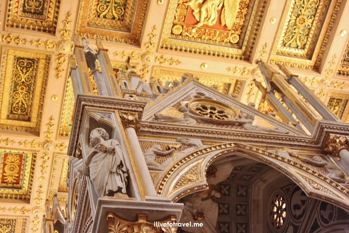 Rome, St. Paul, Outside The Walls, fuori le mura, major basilica, Catholic Church, travel, photo, Italy,, tabernacle, stucco ceiling