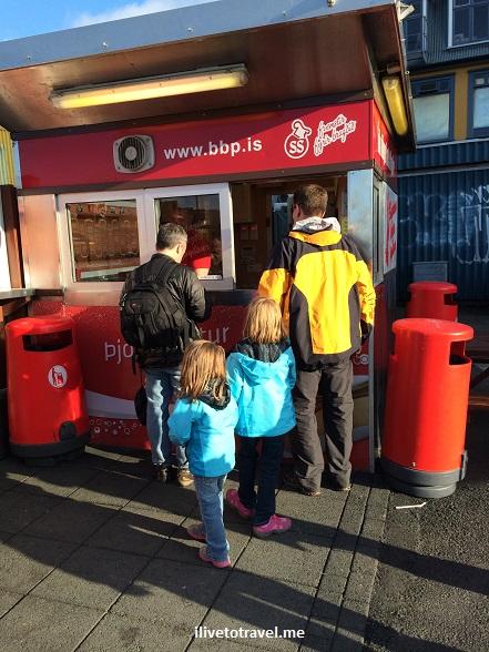 Reykjavik, Iceland, hot dog, cart, travel, food, photo