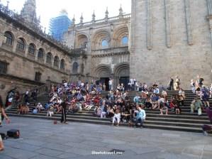 Plaza de Platerias, south facade, Santiago de Compostela, Galicia, Spain, World Heritage Site, travel, photo, architecture, Olympus