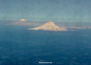 Mt St Helens, Mt Adams, Columbia River, Columbia River gorge, airplane view, travel, photo, Samsung Galaxy, Portland, Oregon