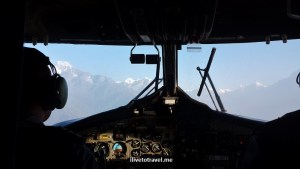 Lukla, airport, flight, Nepal, cockpit, cockpit view, Himalayas, airplane