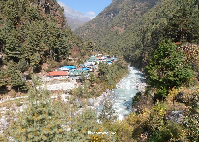 Jorsalle, Khumbu, Nepal, Himalayas, Everest Base Camp, trekking, trail, Dudh Koshi, river