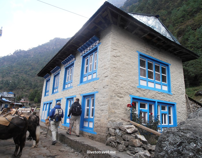 Nepal, Himalayas, house, hamlet, blue, travel, Olympus
