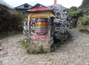 prayer wheel, Buddhism, sanskrit tablet, stupa, Himalayas, Everest trek, Nepal, travel, outdoors, faith, religion, photo, Olympus