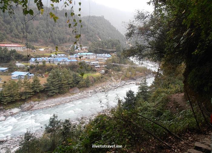 Nepal, Everest trek, Dhudh Kosi, river, trekking, Olympus