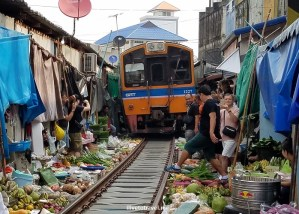 A Unique Railroad Market in Thailand