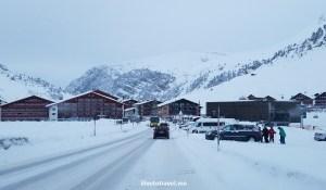 drive, driving, Austria, Lech, Vorarlberg, winter, snow, road