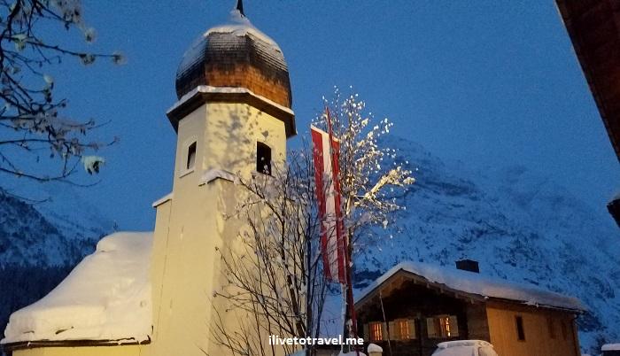 Lech, Vorarlberg, ski, skiing, Austria, church, Zug, tower, kirche, Osterreich