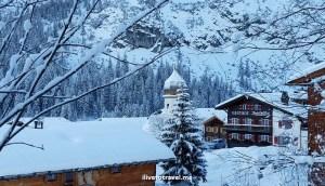 Zug, Lech, Vorarlberg, church, village, Osterreich, kirche, snow, winter, Alps