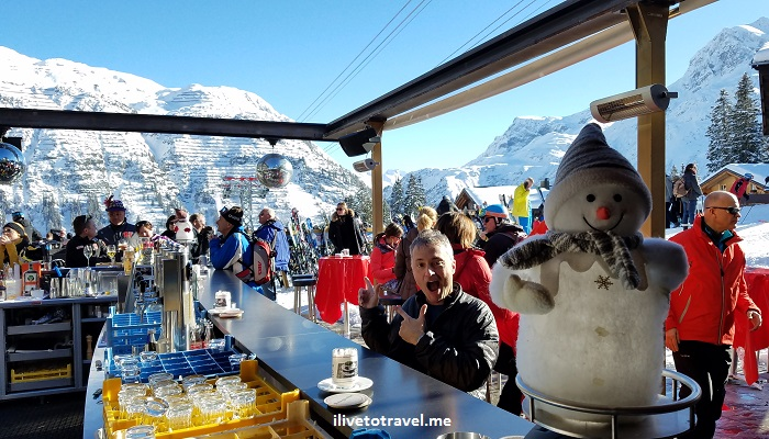 Oberlech, Lech, Austria, ski, skiing, slopes, lodging, apres-ski, bar