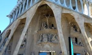 Barcelona, La Sagrada Familia, basilica, iglesia, church, Catholic, spire, Spain, Catalunya, Espana, Passion façade