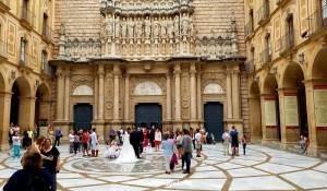 Montserrat, Montserrate, Spain, Cataluña, catholic, basilica, facade, travel
