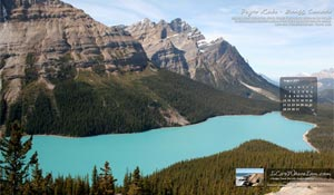 Free Desktop Wallpaper – Peyto Lake, Banff National Park