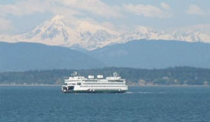 Washington State Ferry and Mt Baker