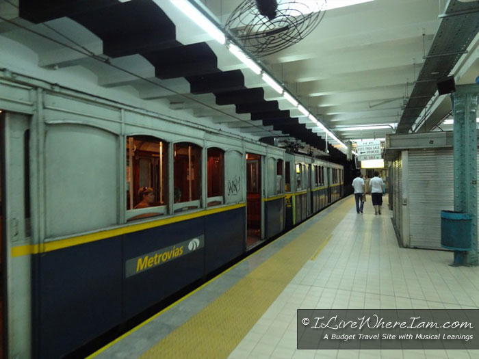 Linea A Subway Car in Station