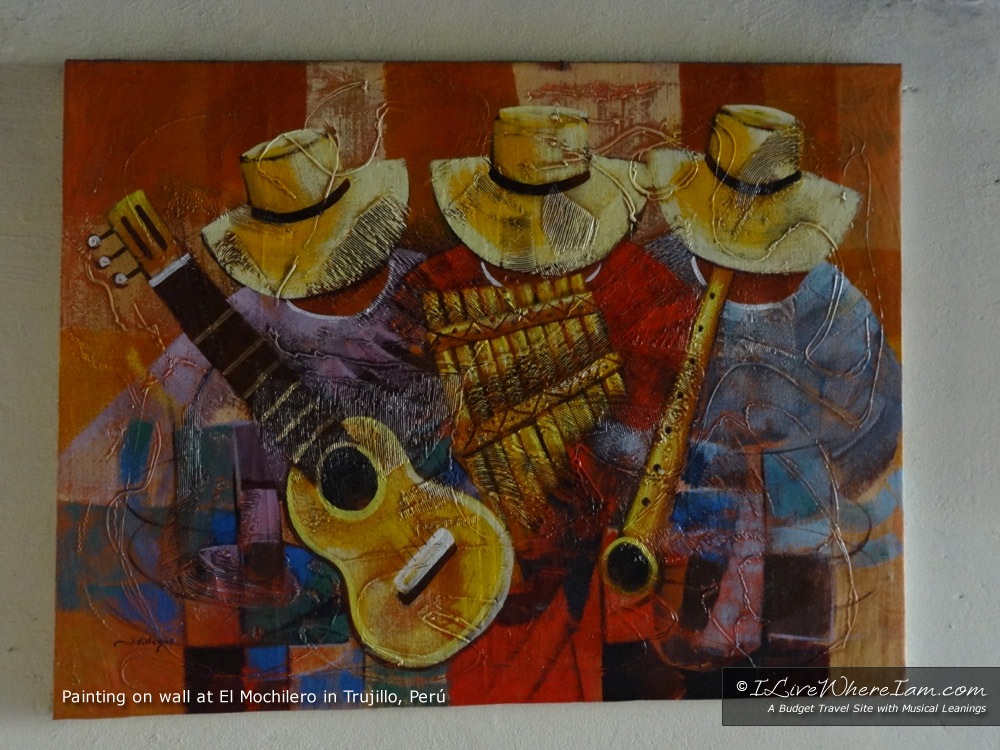 Peruvian Painting of Musicians