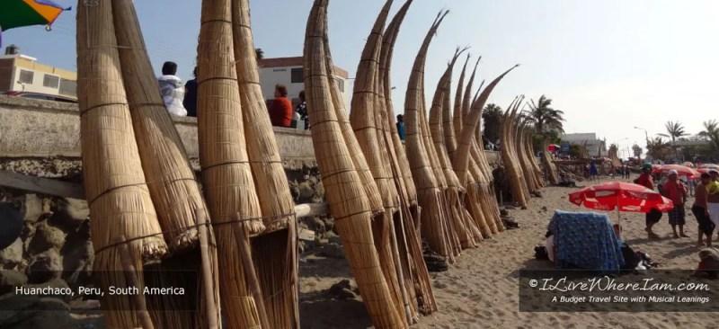 Caballitos de totora – reed fishing boats in Huanchaco, Peru