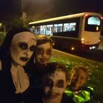 Halloween in Ilkeston.  Bet this bus drove off quick.