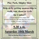 Join us for our sponsored fun, walk/run/cycle or skoot !!!! Saturday 10th March …