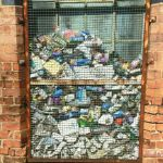 Window grille becomes litter display cabinet….