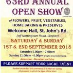 Old Park Ward Open Show of fruit, veg, flowers, preserves, home bakes, etc. next…