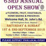 Old Park Ward Open Show of fruit, veg, flowers, preserves, home bakes, etc. next…