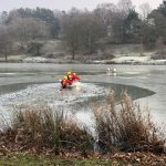 WARNING TO DOG OWNERS AS DOG DIES FALLING THROUGH THE ICE…