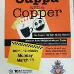 Join us for a cuppa at The Project,102 Bath Street on Monday 11th March at 10am….