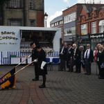 D Day remembered in Ilkeston.  Same few are always there.  Respect.A service to …