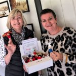 Locally knitted brooches selling to support our Mayor's charities….
