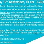 Open Day at Ilkeston Library tomorrow, Friday 13th Sept, Displays by local group…
