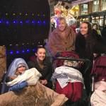 Two pics from the Christmas Lights Switch-On sent to us…