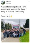 Leek Town fans coming to Ilkeston today....