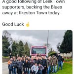 Leek Town fans coming to Ilkeston today….