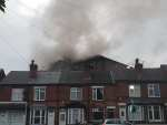 A fire has broken out at the factory on Heanor Road, behind the houses on Granby...