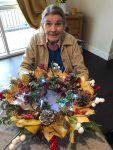 Autumn wreaths made at care home...