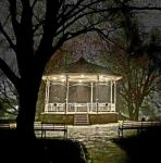 Victoria Park bandstand at night....