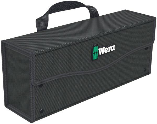 Die kompakte Wera 2go Werkzeug-Box kann mit Werkzeug und Ersatzteilen befüllt und an Wera 2go 1, 2 und 5 angedockt werden.