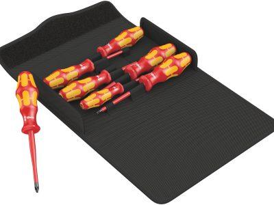 Der Wera Kraftform 100 iS/7 Set 1 Schraubendrehersatz Kraftform Plus Serie 100 mit Teilweise reduziertem Klingendurchmesser ist ein...