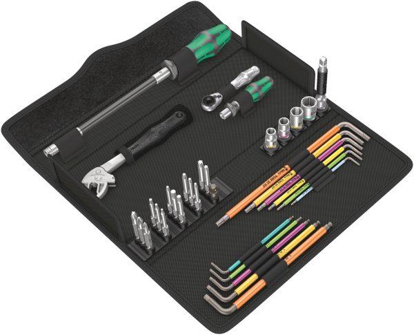 Das kompakte Wera Kraftform Kompakt F 1 Schraubwerkzeugsatz für Fensterbauer mit den 35 wichtigsten Werkzeugen für den Fensterbau.