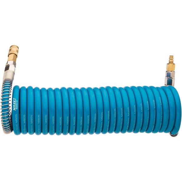 Der HAZET 9040S-10 Spiralschlauch ermöglicht ein flexibles Anschließen von Pneumatik-Werkzeugen...