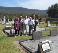 oy Parks Margaret Risk Joe Callcott Ian Callcott Kath Johnson - great great grandchildren of James and Margaret Hicks