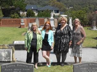 The Last Hicks Family members living north of Bulli - Kerrie Christian (nee Adams) Katrina Christian Julie Risk Margaret Risk (nee Joy)