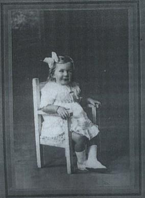 Mavis as a child.