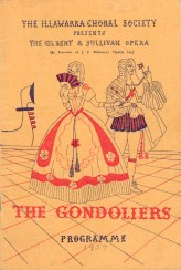1957 The Gondoliers Programme