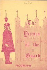 1960, The Yeoman of the Guard Programme