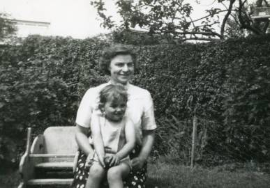 Barbara with her mother, Joan Davies
