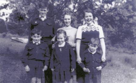Kath (top right) as a student