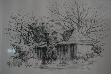Original McNamara House, drawn by Terry Houghton, 1978
